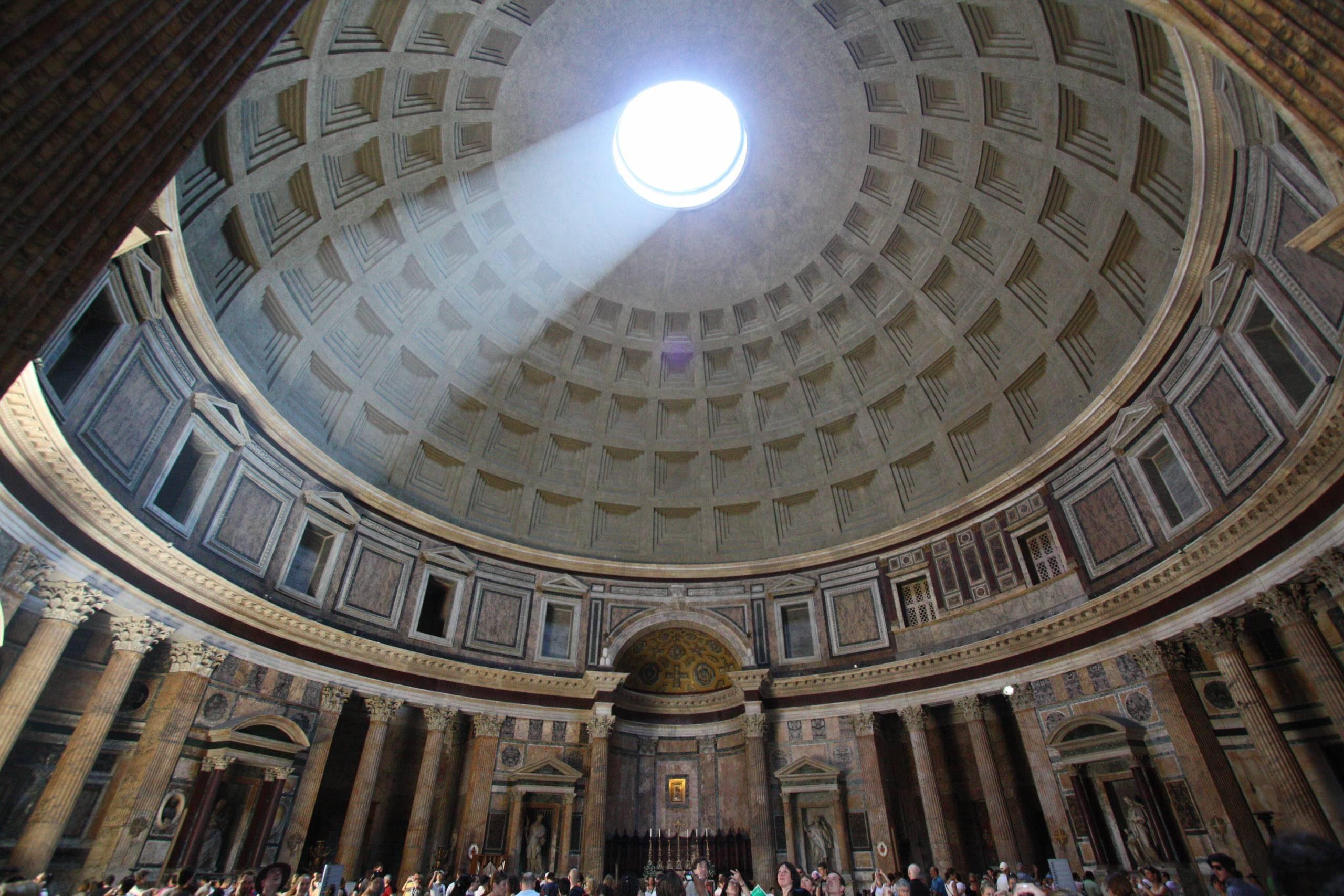 Le panthéon à Rome.