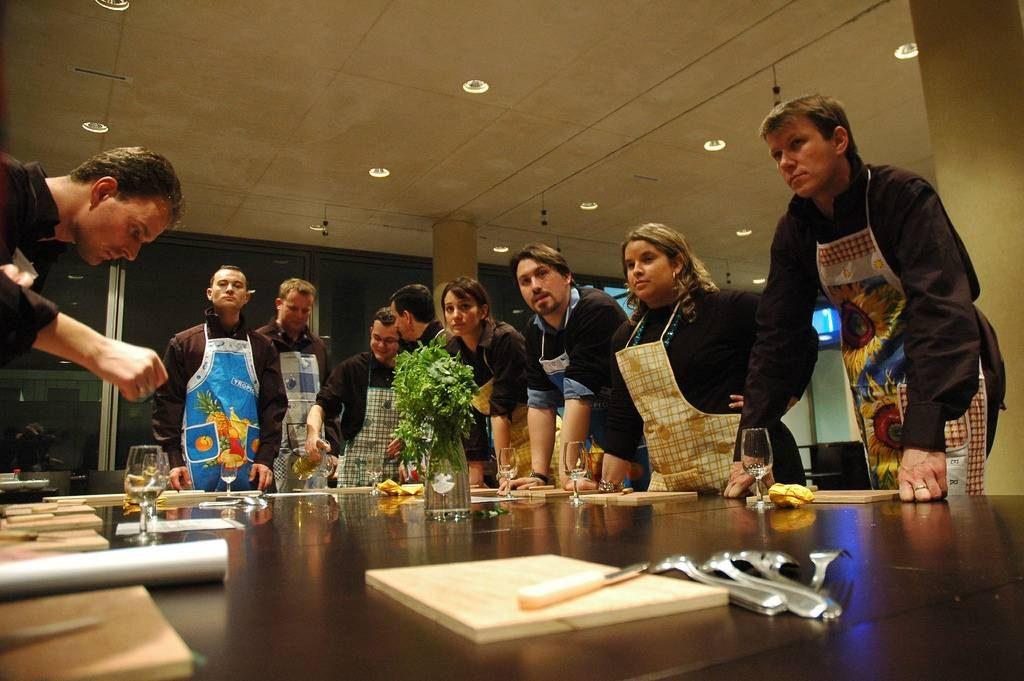 Un cours de cuisine à Rome.
