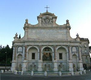 curiosités Rome Fontana_Acqua Paola_