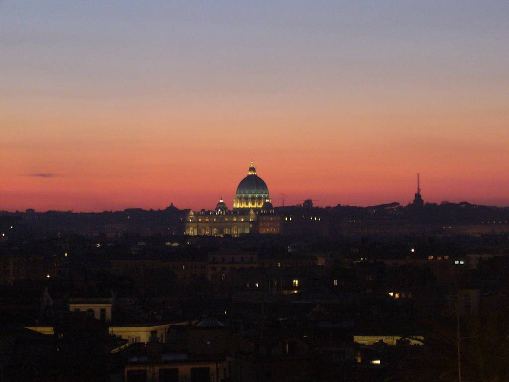 coucher de soleil a rome