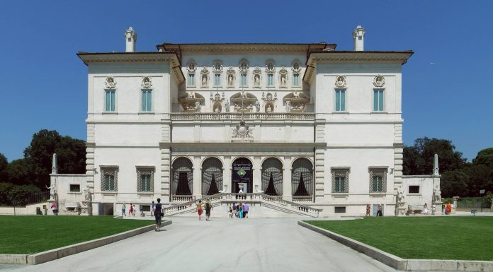 La galleria Borghese, à Rome.