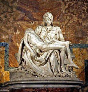La pieta de Michel-Ange basilique Saint-Pierre de Rome.