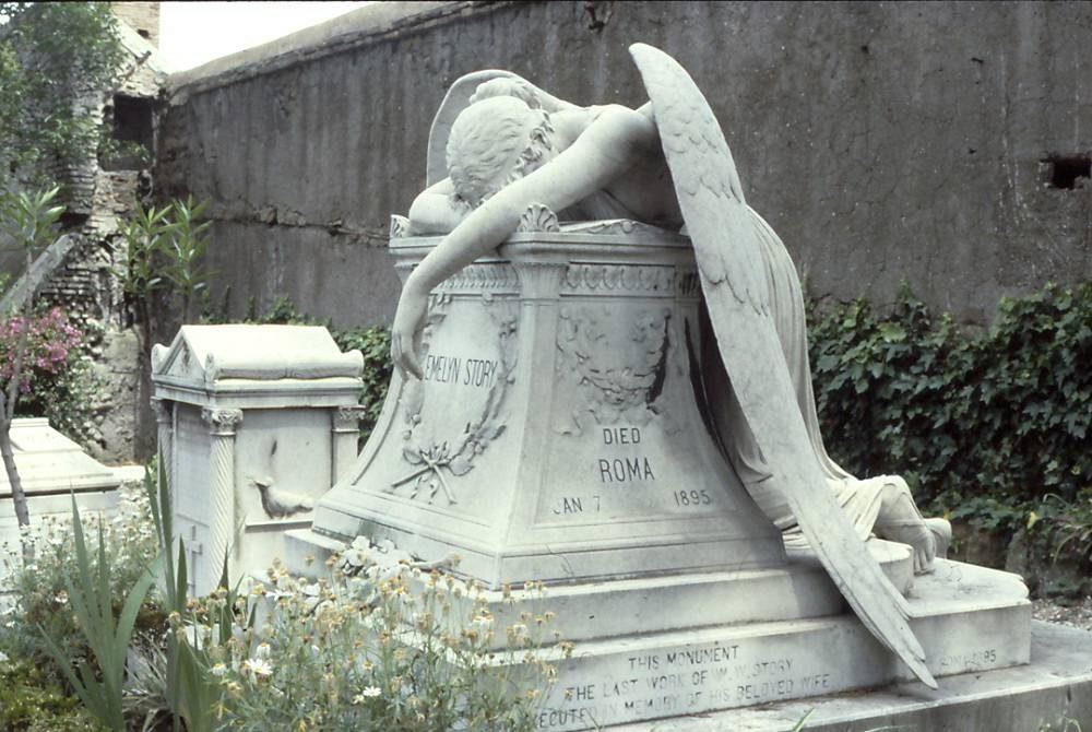 sublime tombe du cimetiere protestant a Rome