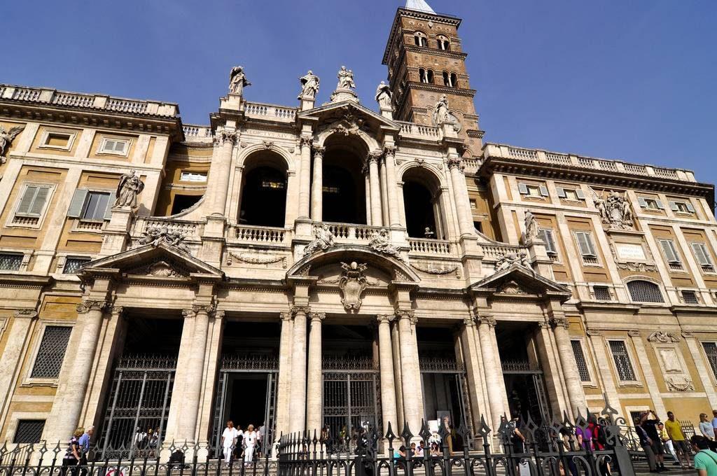 basilique santa maria maggiore en août