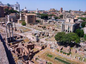 visites au forum romain.