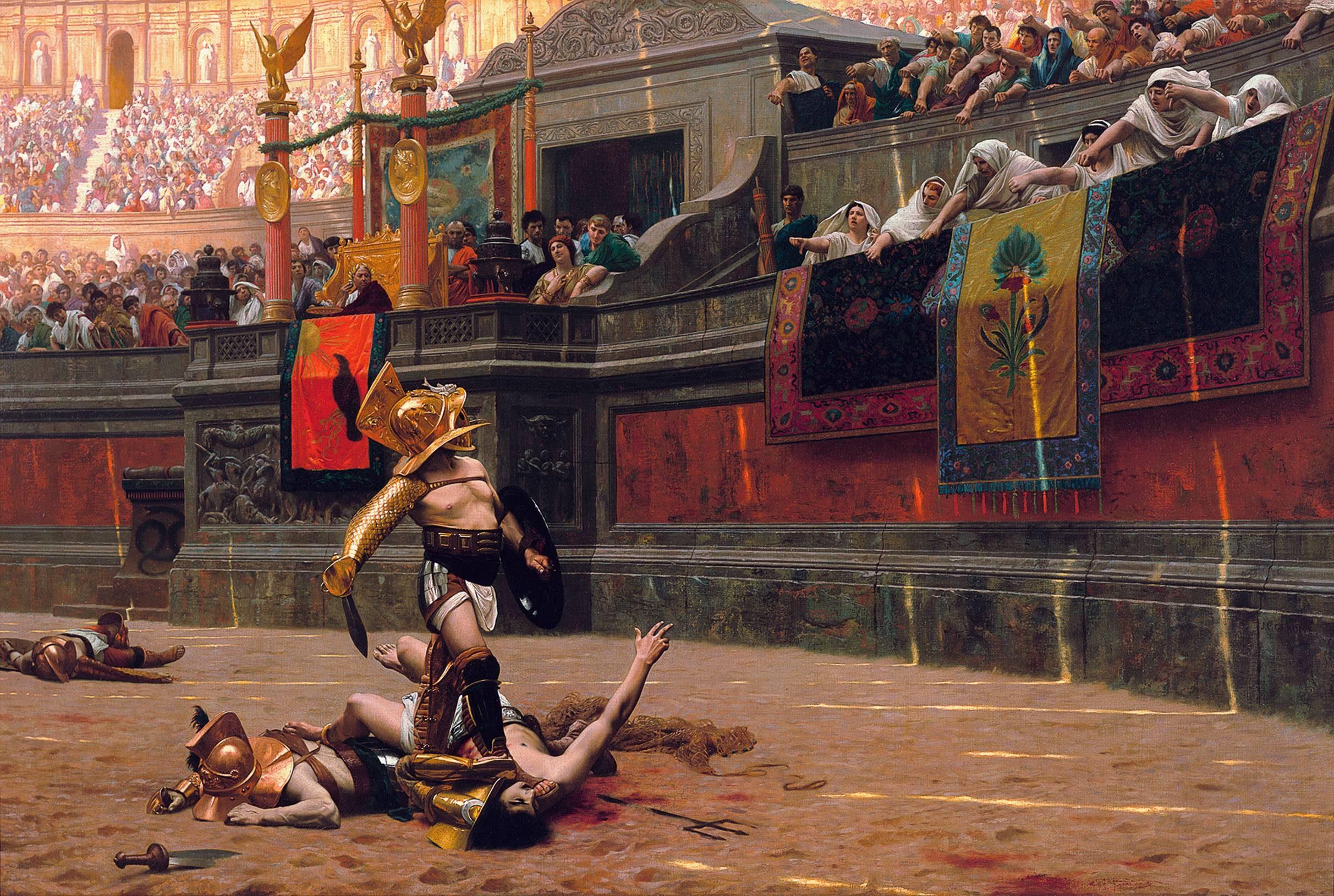 combat de gladiateurs Rome