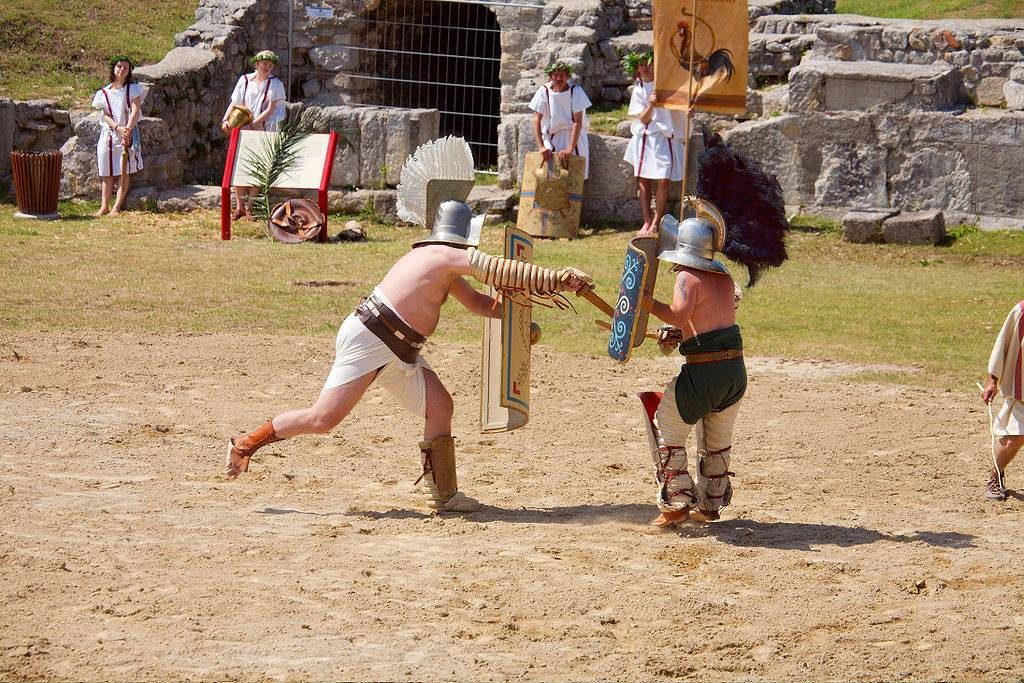 ecole gladiateurs rome combat