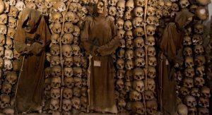 Halloween, crypte des capucins Rome.