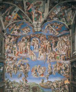 Vatican chapelle Sixtine Jugement dernier