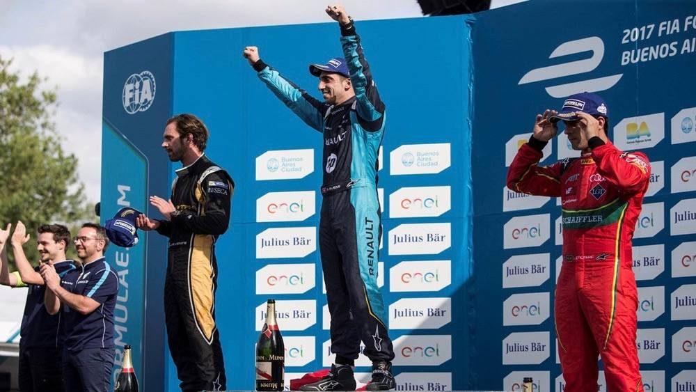 Championnat voitures électriques épreuve Rome.