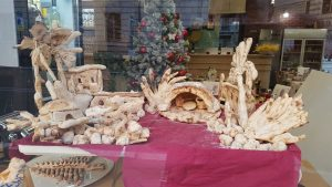 crèche vitrine boulanger noel