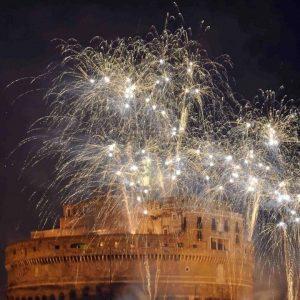 feu artifice Rome.