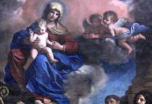 Nativité Vierge à l'enfant avec quatre saints.