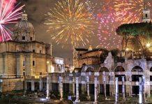 réveillon Rome feu artifice.