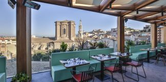 rooftop Rome.