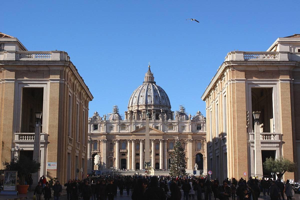 basilique saint pierre rome hiver