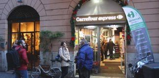 Un des supermarchés Rome Carrefour