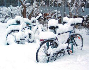 Rome neige vélo.