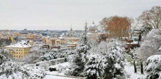 Rome sous la neige.