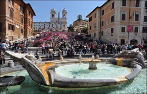 azalées printemps rome piazza di spagna