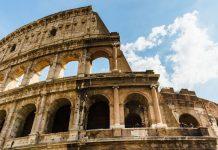 Colisée Rome mars.