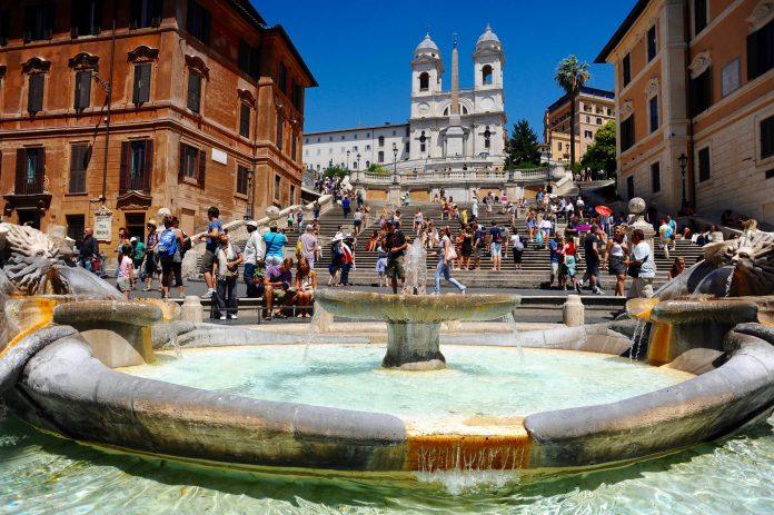 La Piazza di Spagna Rome.