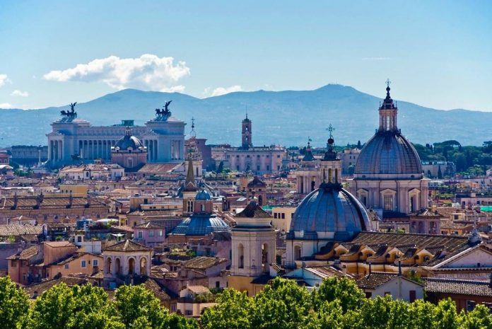 Vue sur Rome.