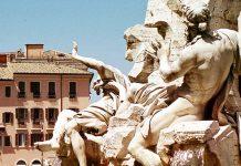 mai rome fontaine des quatre fleuves