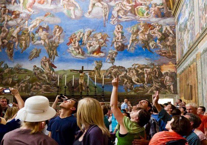 Musées du Vatican chapelle Sixtine Rome.