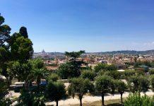 vue terrasse trinité des monts dormir Rome