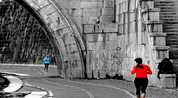 ungotevere pour jogging Rome