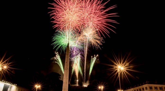 feu d'artifice rome Nouvel An