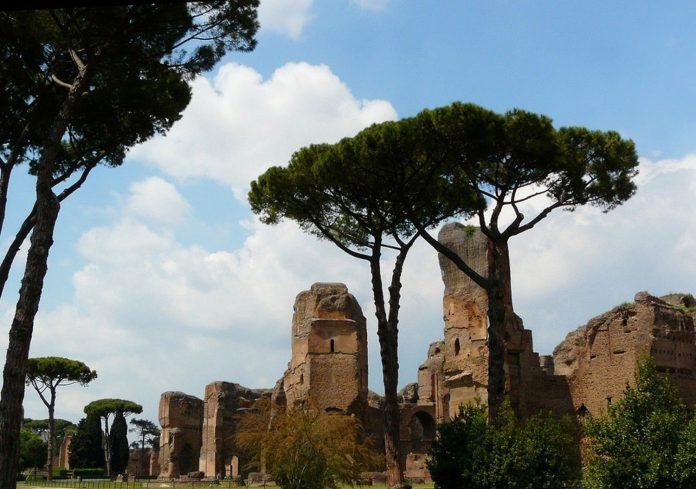 caracalla et colline aventin rome