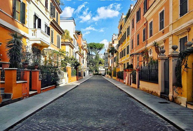 Piccola Londra, la rue insolite du quartier Flaminio à Rome