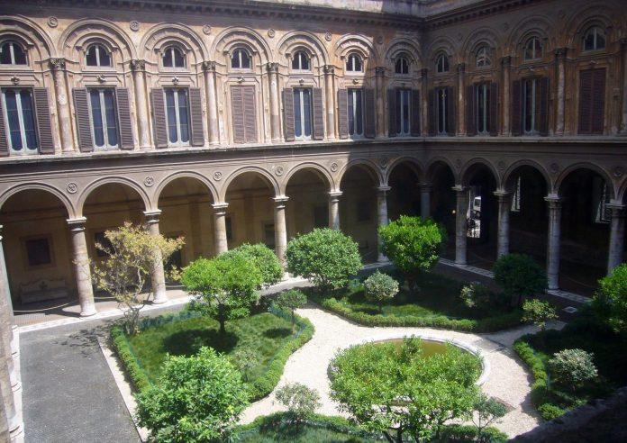 événement cour rome palazzo Pamphilj